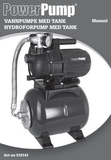 VANNPUMPE MEd tANk hydroforPUMP MEd tANk