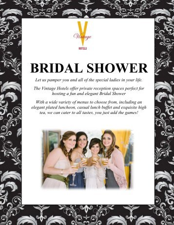 Bridal Shower Package - Vintage Hotels