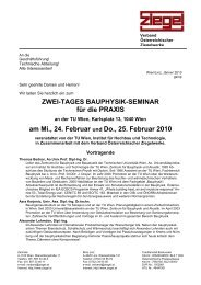 Einladung Bauphysikseminar 24.+25. Februar 2010