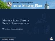 3/25/10 Bedford Master Plan Update Public Presentation - VHB.com