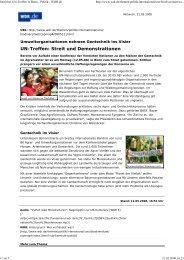 Streit bei UN-Treffen in Bonn - Politik - WDR.de - Planet Diversity