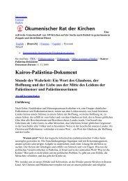 Kairos-Palästina-Dokument - Martin-Luther-Kirche