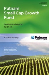 Small Cap Growth Fund Semi-Annual Report - Putnam Investments