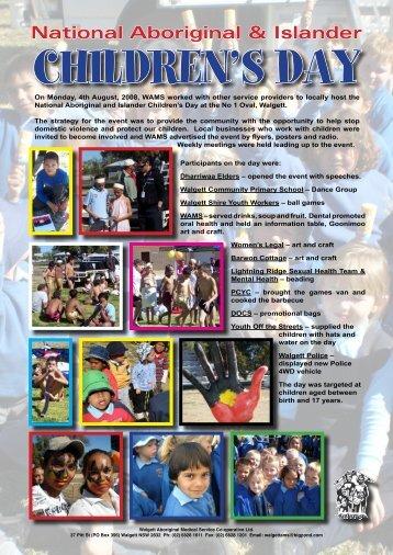 National Aboriginal & Islander Childrens Day - WAMS
