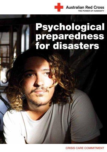 Psychological preparedness for disasters - Australian Red Cross