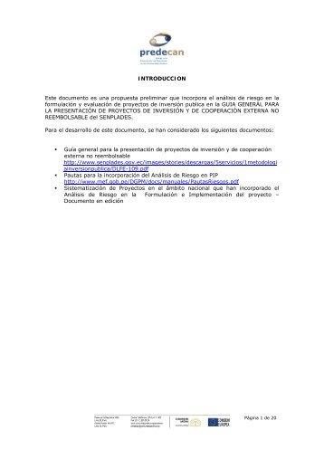 Guia Ecuador - Documento de trabajo - Gestión del Riesgo y ...