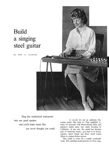 Build a singing steel guitar - Vintage Projects