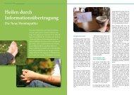 Heilen durch Informationsübertragung Die Neue Homöopathie