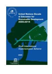 The International Implementation Scheme (IIS) - Unesco