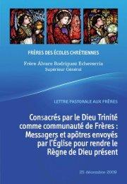 Consacrés par le Dieu Trinité comme communauté de Frères