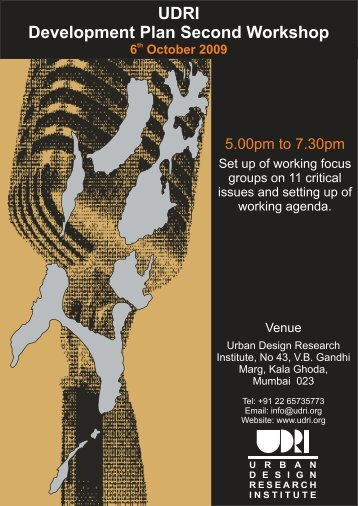Poster DP.cdr - Urban Design Research Institute