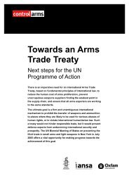 Next Steps For The PoA - Control Arms