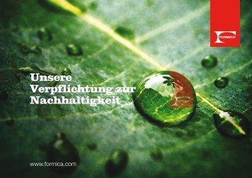 Unsere Verpflichtung zur Nachhaltigkeit - Formica