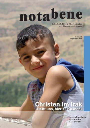 Dossier Irak aus notabene 7/2010 - Reformierte Kirche Kanton Zürich