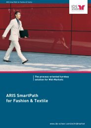 ARIS SmartPath for Fashion & Textile The process ... - IDS Scheer AG