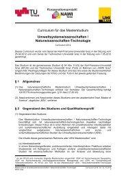 Curriculum für das Masterstudium ... - mibla.TUGraz.at