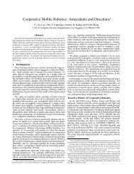 Cooperative Mobile Robotics - UCSD VLSI CAD Laboratory
