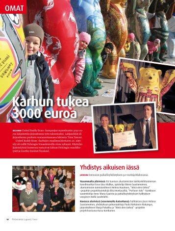 Karhun tukea 3000 euroa - Pelastakaa Lapset ry
