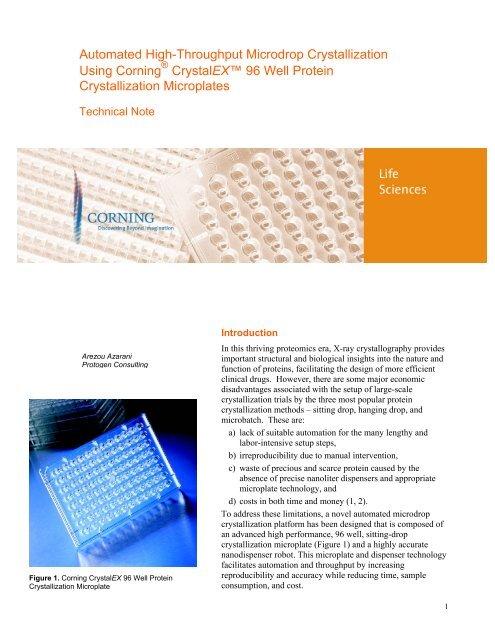 Automated High-Throughput Microdrop Crystallization Using ...