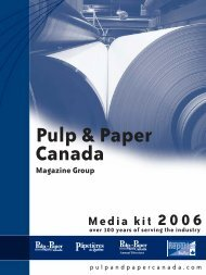 Media kit 2006 - Pulp and Paper Canada