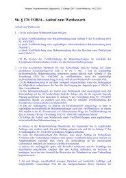 96. § 17b VOB/A - Aufruf zum Wettbewerb - Oeffentliche Auftraege