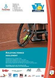 Reglement rolstoeltennis - Parantee