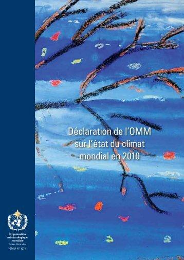Déclaration de l'OMM sur l'état du climat mondial ... - E-Library - WMO