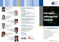 Onkologisch- zellbiologisches Praktikum