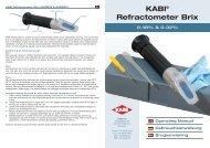 KABI® Refractometer Brix
