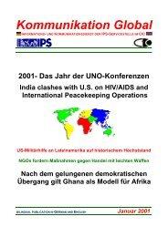 Kommunikation Global - Nr. 13/ Januar 2001 - Global Perspectives