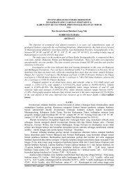 Inventarisasi Batubara Bersistem di Daerah Long Nah dan