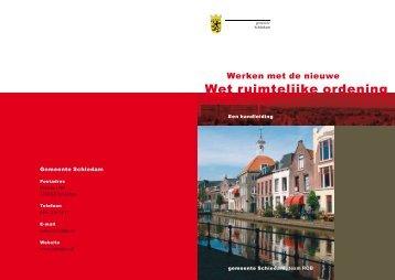 Werken met de nieuwe Wet ruimtelijke ordening - Gemeente ...
