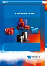 EXPANSION VESSEL - Watts Industries