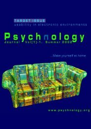 Educational interaction in distance learning - Psychnology