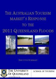 Queensland Floods Research Report - School of Tourism ...