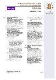 RICHTLIJN Nederlandse Vereniging voor Obstetrie en ... - NVOG