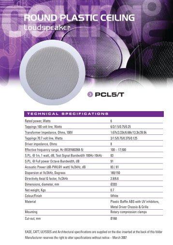round plastic ceiling - penton