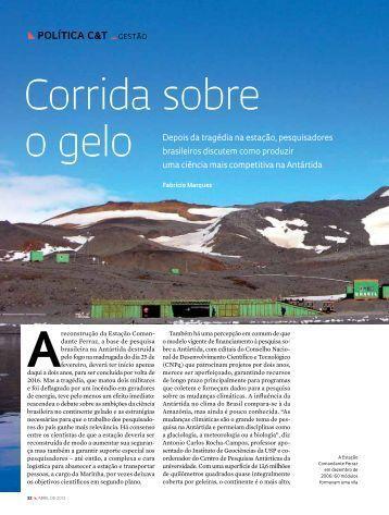 Corrida sobre o gelo - Revista Pesquisa FAPESP