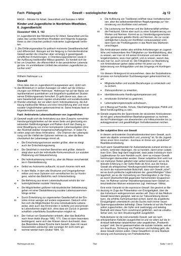 Heitmeyer: Soziologischer Ansatz - Ploecher.de