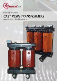 Cast resin transformers - Ruhstrat GmbH