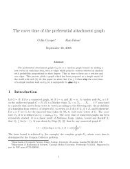 The cover time of the preferential attachment graph - CiteSeerX
