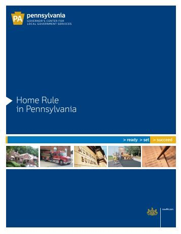 Home Rule in Pennsylvania - Lincoln Institute of Land Policy