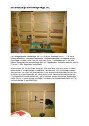 Bauanleitung Kaninchengehege XXL - Ein Herz für Tiere