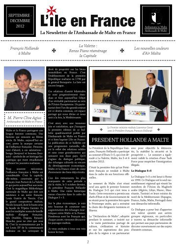 PRESIDENT HOLLANDE A MALTE - Ministry of Foreign Affairs Malta