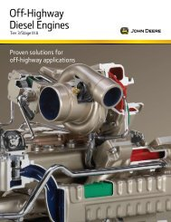 Off-Highway Diesel Engines - John Deere