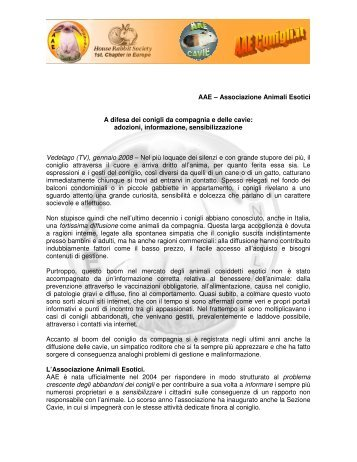 PresentazioneAAE (.pdf 248 Kb) - Centro Servizi Volontariato Salento