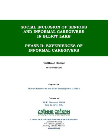 caregiving the study of informal caregiving Caregiver briefcase understudied topics what are the key understudied topics in caregiver research » major areas of study research on the impact of caregiving.