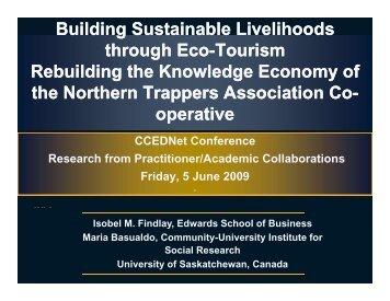 Building Sustainable Livelihoods through Eco through Eco-Tourism ...