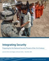 Integrating Security - Center for American Progress