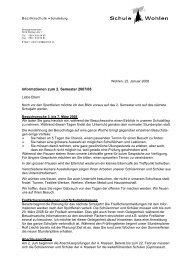 Informationen zum 2. Semester 2007/08 - Bez Wohlen